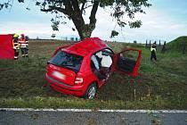 Řidička najela do stromu, zemřela ještě před příjezdem sanitky.
