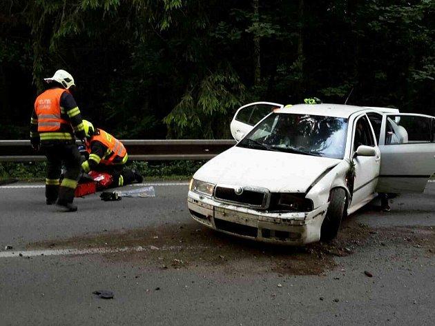 Nehoda u Újezdu u Boskovic.