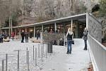 Slavnostní otevření nového vstupu do Punkevních jeskyní.