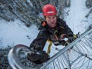 Horolezec Ondřej Marvánek.