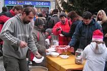 Tradiční vánoční polévka v Boskovicích.
