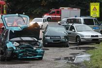 Při páteční nehodě u Olomučan se zranilo pět lidí.