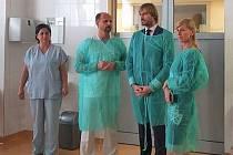 Ministr zdravotnictví Adam Vojtěch navštívil blanenskou nemocnici