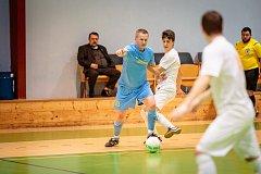 V utkání futsalové divize E rozdrtil PRO-STATIC Blansko rezervu druholigového Amoru Lazor Vyškov 14:1.