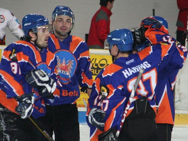 2. liga, východ: SHK Hodonín (v modrém) vs. Technika Blansko