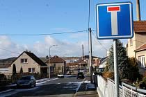 Štefánikova ulice v Boskovicích je nyní neprůjezdná.