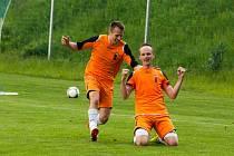 Fotbalisté Blanska (v oranžovém) - ilustrační foto.