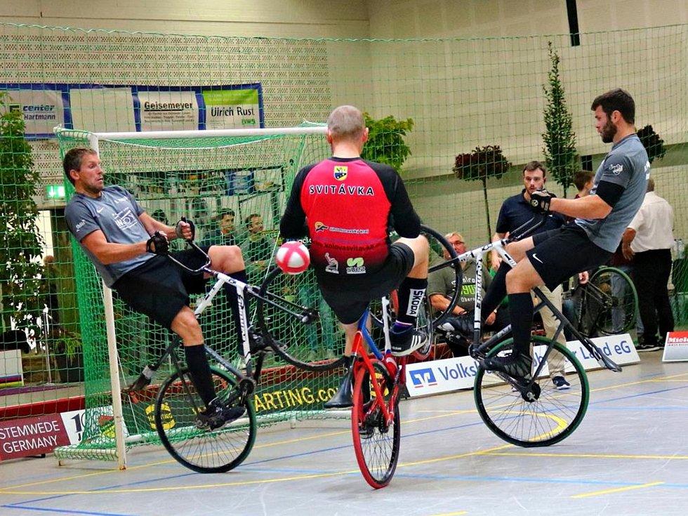 Otec a syn Jiří Hrdličkové z SC Svitávka spolu odehráli další turnaj Světového poháru v kolové v německém Stemwede.