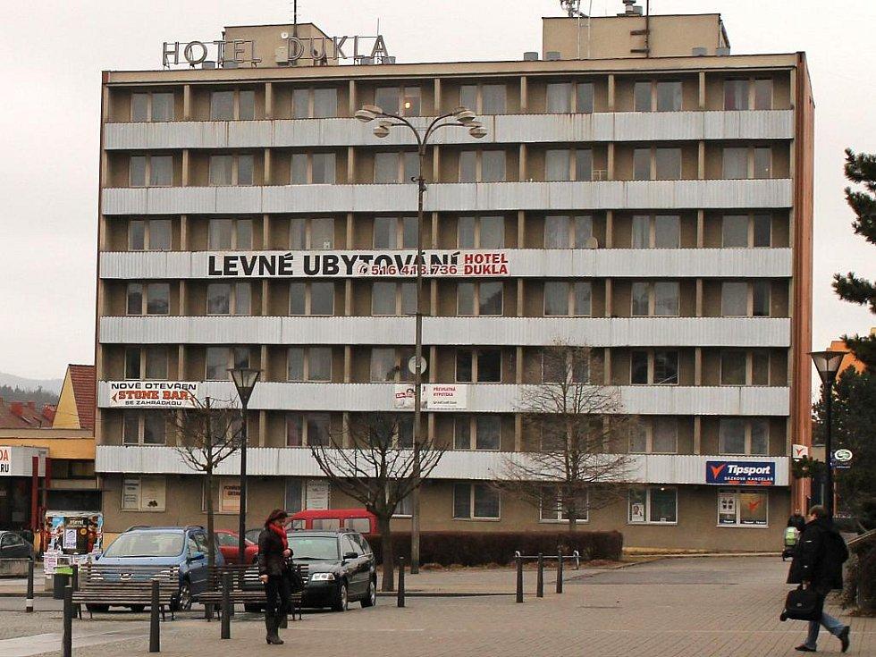 Hotel Dukla na náměstí Republiky v Blansku. Ilustrační foto.