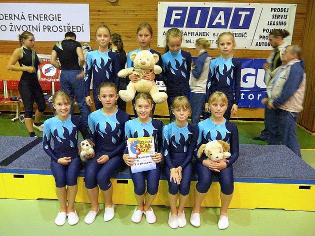Na mistrovství republiky v TeamGym junior v Třebíči obsadila blanenská výprava sedmé místo.