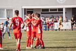 Blanenští fotbalisté slaví druhou výhru v sezoně.