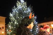 Rozsvícení vánočního stromu na blanenském náměstí Republiky.