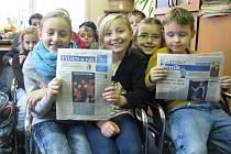 Děti ze Základní školy ve Vysočanech navštívily redakci Blanenského deníku Rovnost.