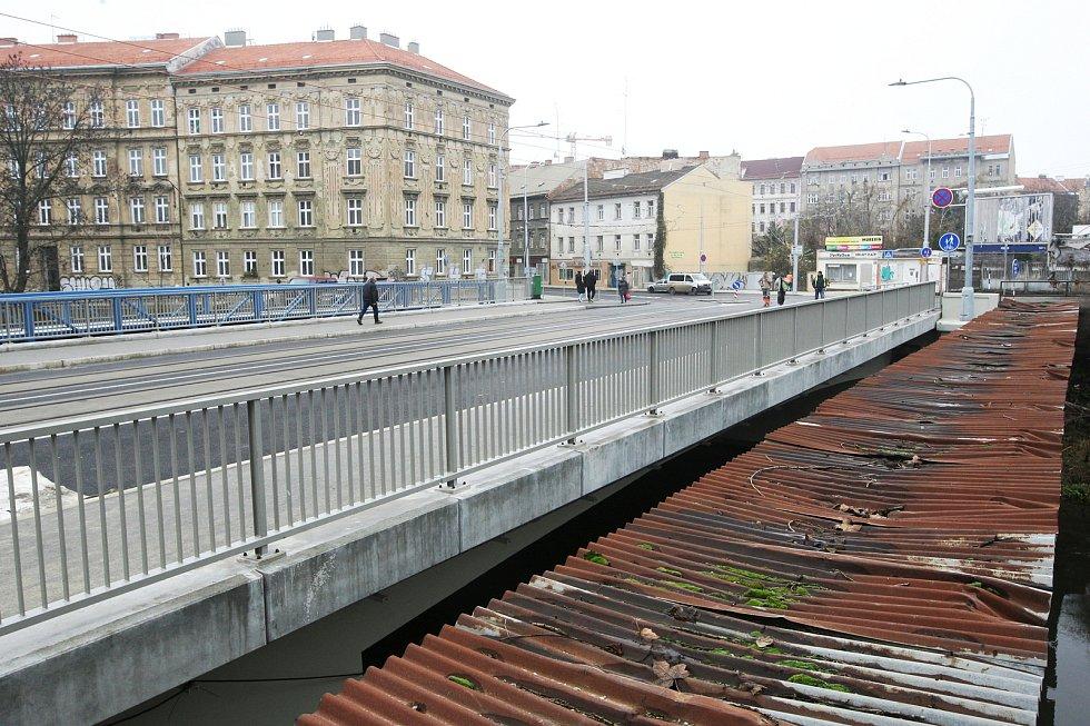 Opravený Zábrdovický most v Brně.