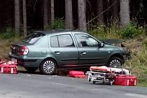 Nehoda auta na Blanensku.
