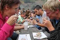 Do keltské usedlosti Isarno se sjeli milovníci dobrého jídla .