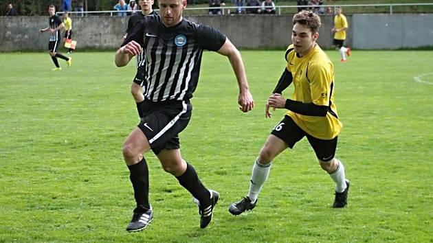 Ondřej Hruška, hrající trenér fotbalistů Kunštátu.