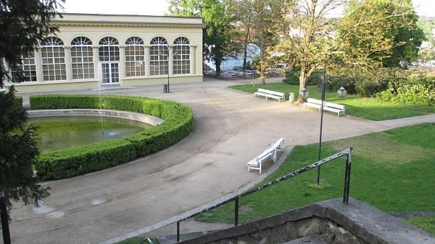 Zámecký park v Boskovicích. Ilustrační foto