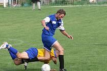 Nováček okresního přeboru Olomučany dokázal v zápase s Rudicí držet krok jen poločas. Po bezbrankové půli však domácí nasypali do sítě olomučanského gólmana pět branek.