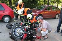 Nehoda motorky. Ilustrační foto