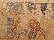 Středověká nástěnná malba objevená na zámku v Kunštátě pochází z první poloviny čtrnáctého století.