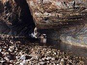 Chodba samoty v Amatérské jeskyni.