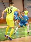V posledním utkání první poloviny divize E prohráli futsalisté Pro-STATICu Blansko (žluté dresy) s Amorem Vyškov 4:11.