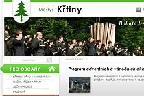 Webové stránky městyste Křtiny ovládly soutěž Webparáda 2013.