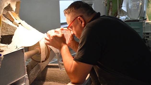 Sklářští brusiči, v v Hosobrně se jim řiká šléfiři. ilustrační foto: Pavel Kyselák