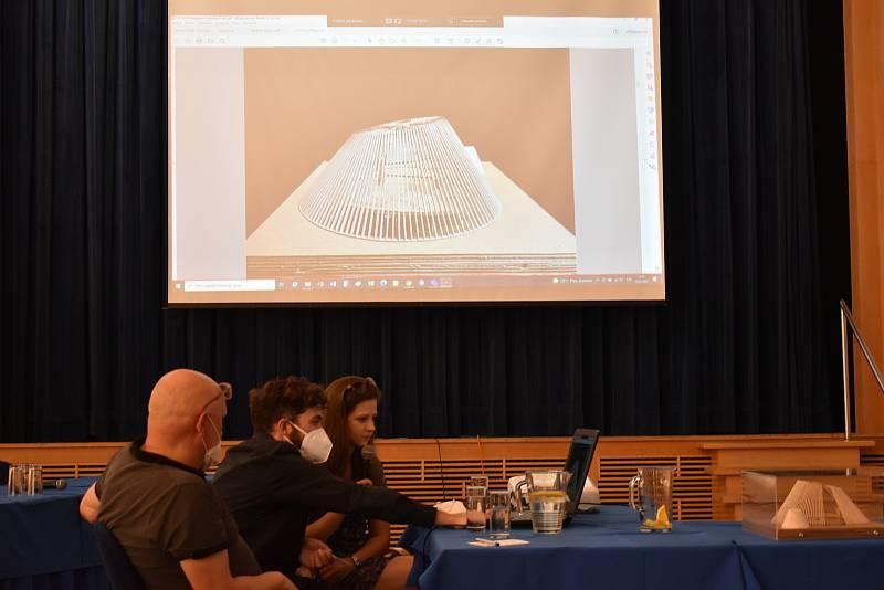 Boskovičtí představili studii nové sportovní haly od mexického architekta Alberta Kalacha. Garantem je městský architekt Zdeněk Fránek.