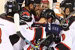Ve 2. kole krajské hokejové ligy porazila Minerva Boskovice (bílé dresy) Spartak Uherský Brod 5:4