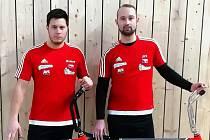 Staronoví účastníci extraligy v kolové Roman Staněk (vlevo) a Jiří Hrdlička mladší z SC Svitávka.