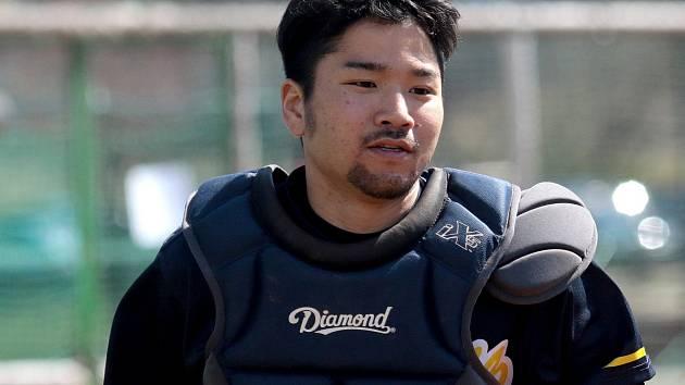 JAPONSKÁ POSILA. Catcher Natsuhiko Ue se po dvou letech vrací do blanenské sestavy.