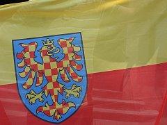Moravská vlajka. Ilustrační foto.