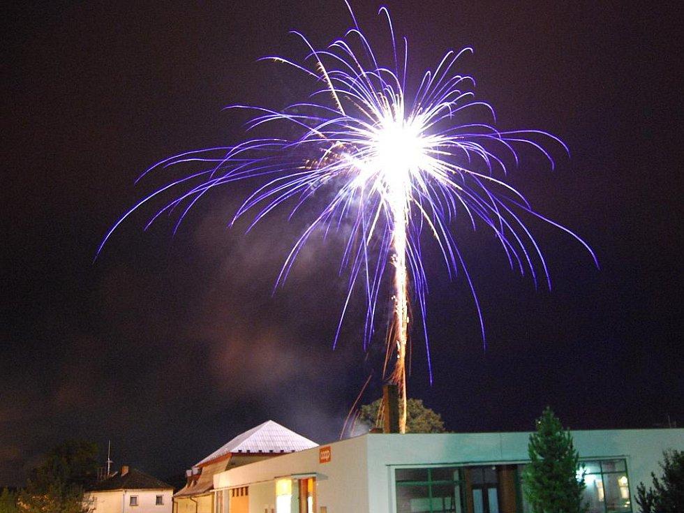 Ohňostroj konaný u příležitosti oslav