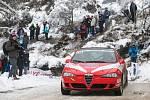 Hustopečská Alfa Romeo 147 s Radou a Jugasem na tratích 83. Rallye Monte Carlo.