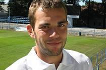 Kapitán fotbalistů MSK Břeclav Pavel Simandl.