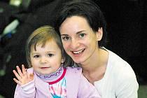 Andrea Šuldesová s dcerou