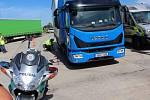Slovenští a čeští policisté se při kontrolách zaměřili na kamiony.