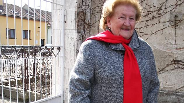 Rodačka z Ladné Ludmila Michlovská.
