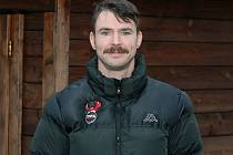 Ilustrační foto. Hokejista Techniky Brno Tomáš Havíř na konci loňského Movemberu.