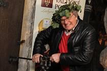 Otevírání nové vinařské expozice v lednickém zámku se v pátek zúčastnil i herec a tanečník Vlastimil Harapes. Návštěvníci ji spatří v umělé jeskyni grotta.