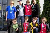 Medailisté z Velké ceny juda z Pezinku.