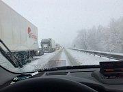 Břeclavsko pod sněhem.
