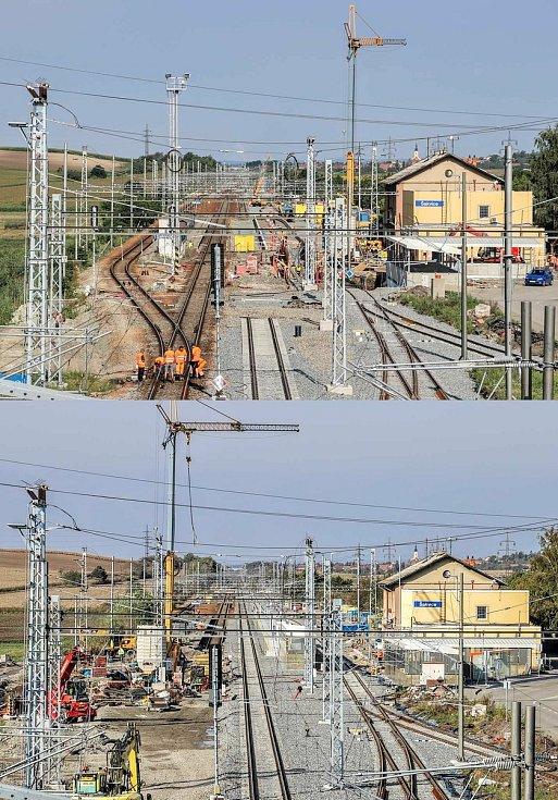 Modernizace železniční trati mezi Šakvicemi a Hustopečemi se blíží ke konci.