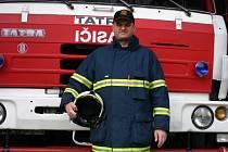 Dobrovolný hasič z Poštorné.