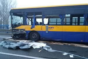 Nehoda v břeclavské Lidické ulici.