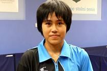 Břeclavská stolní tenistka Sawettabut Suthasini.