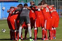 Reprezentační devatenáctka v prvním ze dvou přípravných zápasů s Makedonií vyhrála v Břeclavi 1:0.