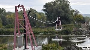 Dobré Pole Drnholec Dyje most stavba